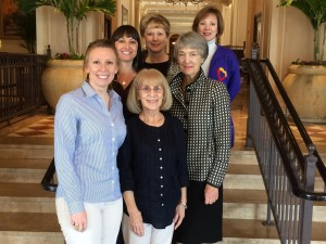 Women's Fund Members Ellen Krafve, Patty Machin, Lori Holt, Marty Wiggins and Betsy Hahn with WCGN founder Colleen Willoughby